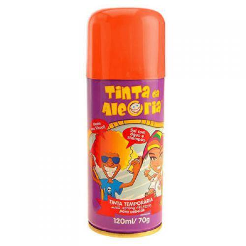 Tinta Spray para Cabelo 120ml Laranja