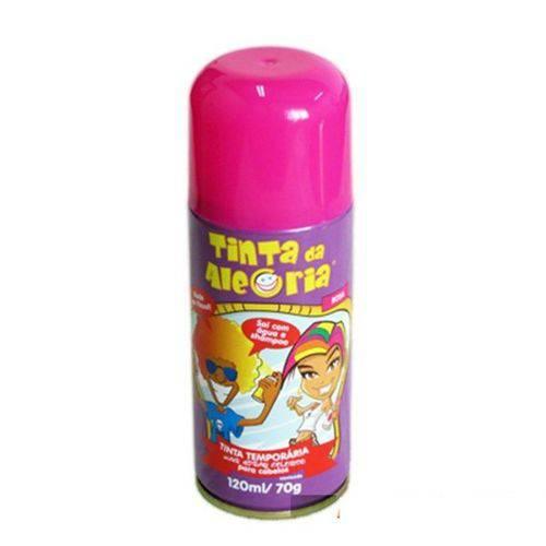 Tinta Spray para Cabelo 120ml Rosa