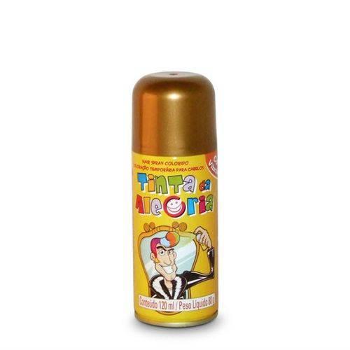 Tinta Spray para Cabelo Dourada