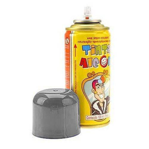 Tinta Spray para Cabelo Prata 120ml