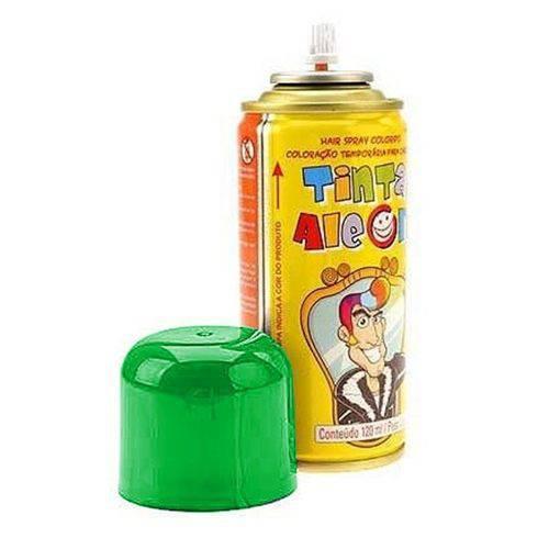 Tinta Spray para Cabelo Verde 120ml