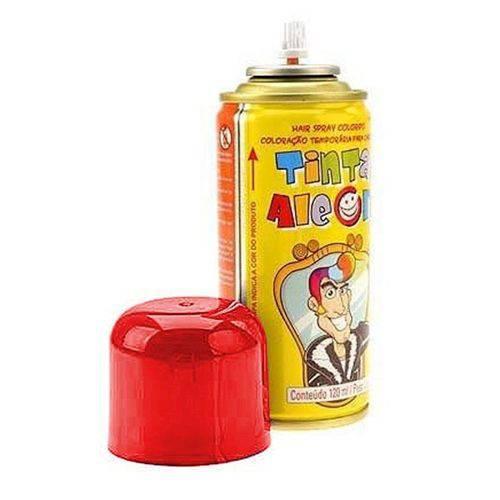 Tinta Spray para Cabelo Vermelho 120ml