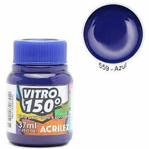 Tinta Vitro 150º Acrilex 37ml Azul 559