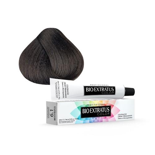 Tintura Creme Bio Extratus Color Louro Escuro Acinzentado 6.1 60ml