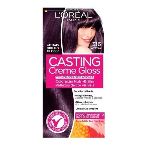 Tintura Creme Casting Creme Gloss L'oréal Ameixa 316 Kit
