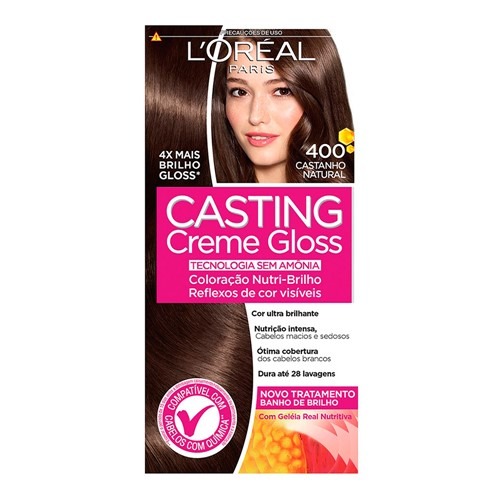 Tintura Creme Casting Creme Gloss L'oréal Castanho Natural 400 Kit