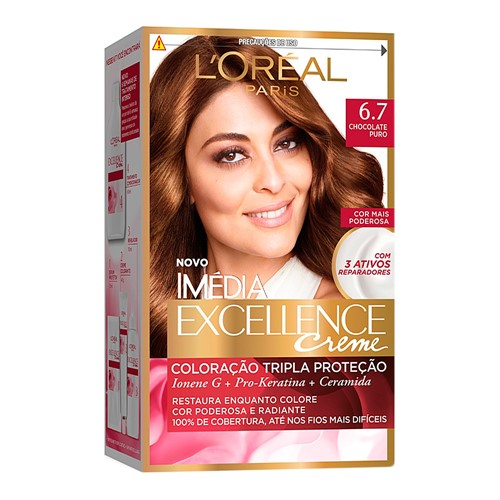 Tintura Creme Imédia Excellence L'oréal Chocolate Puro 6.7 Kit + Oferta
