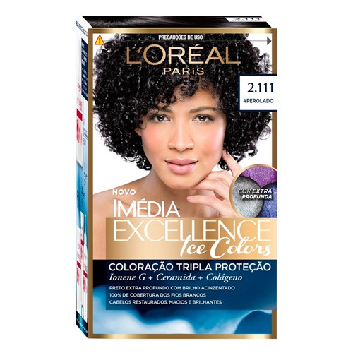 Tintura Creme Imédia Excellence L'oréal Ice Colors #Perolado 2.111 Kit