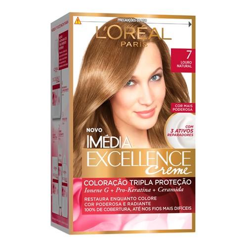 Tintura Creme Imédia Excellence L'oréal Louro Natural 7 Kit