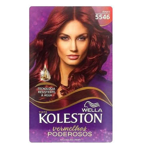 Tintura Creme Koleston Wella Amora 5546 Kit