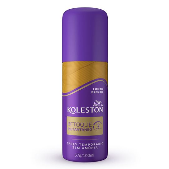 Tintura Koleston Retoque Instantaneo Cor Louro Escuro Spray 100ml