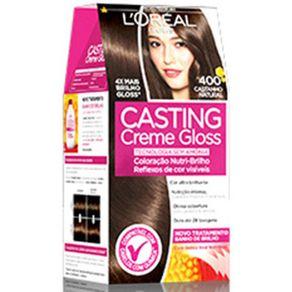 Tintura Tonalizante Casting Creme Gloss 400 Castanho Natural