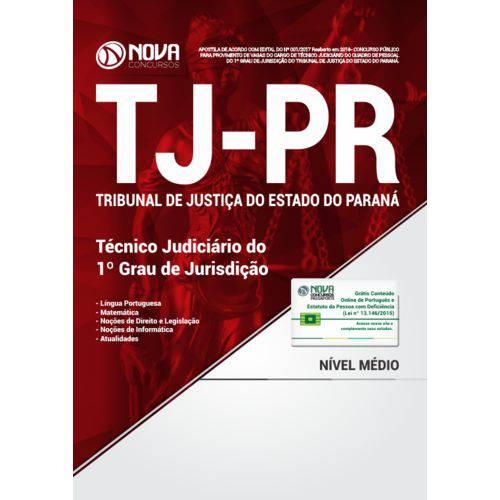 Tj-Pr 2018 - Técnico Judiciário do 1º Grau de Jurisdição