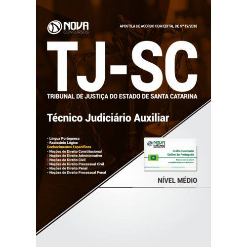 Tj-sc 2018 - Técnico Judiciário Auxiliar