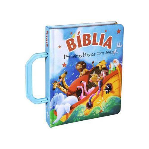 Tnl583p5 - Bíblia Primeiros Passos com Jesus - Azul
