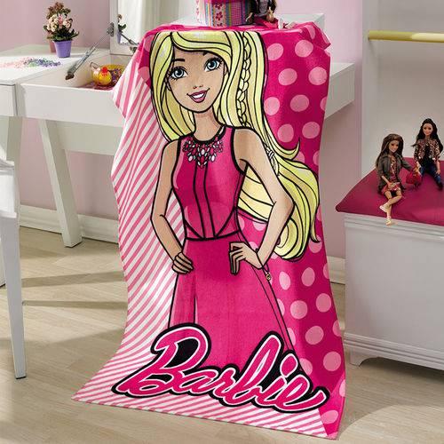 Toalha Banho Aveludada Infantil Menina Döhler Baby Estampado Barbie 03