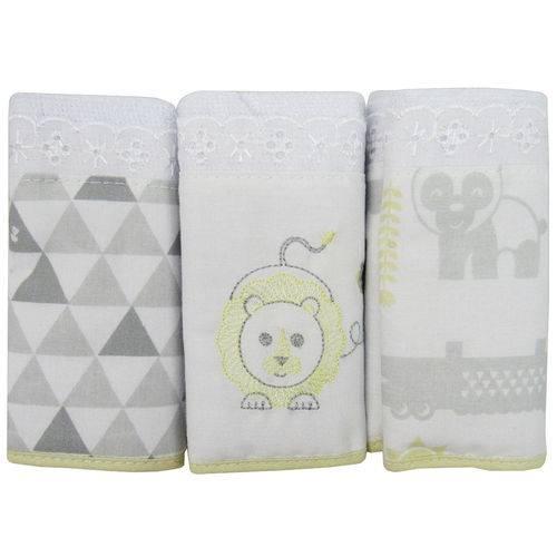 Toalha Boquinha Fisher Price Kit com 3 Unidades Neutra Amarela