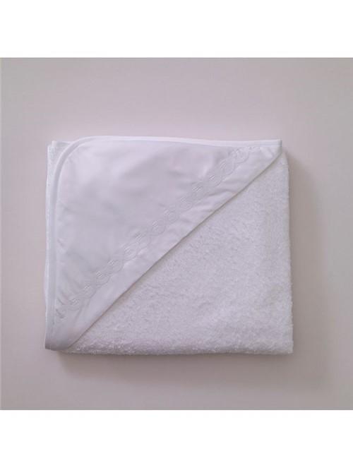 Toalha Capuz Onde - Branco - 95x85