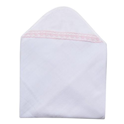 Toalha Capuz Rositas - Branco-rosa - 95x85