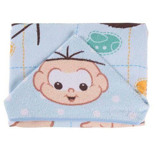 Toalha Capuz Turma da Monica Baby Cebolinha