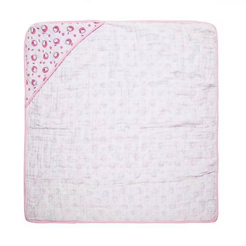 Toalha com Capuz Soft Rosa Feminina
