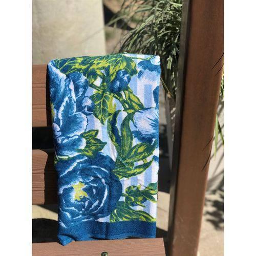Toalha de Banho Athenas - Floral Azul