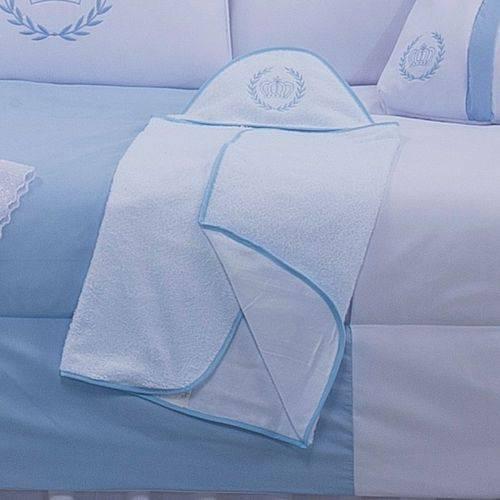Toalha de Banho com Capuz Realeza Azul 100% Algodão