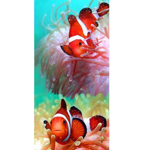 Toalha de Banho e Praia Peixes Vermelhos Aveludada 0,76x1,52m Buettner