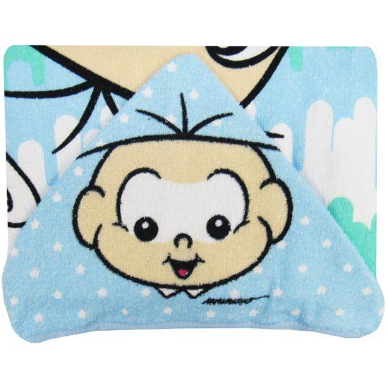 Toalha de Banho Masculina com Capuz Estampada Cebolinha Baby