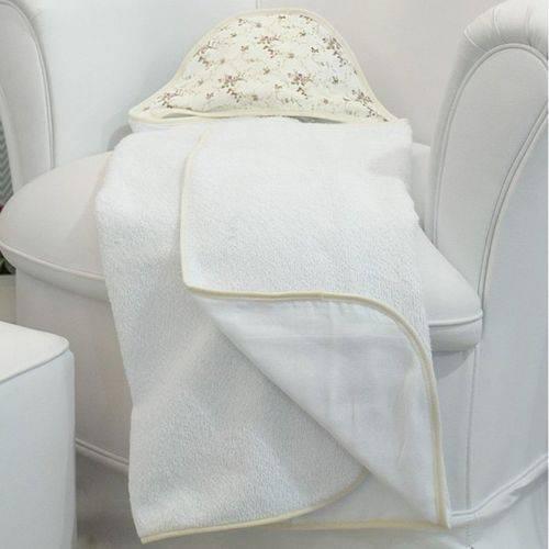 Toalha de Banho Nervura Floral com Capuz