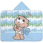 Toalha de Banho Turma da Mônica Baby 70 Cm X 90 Cm com Capuz e Forro de Fralda - Masculino