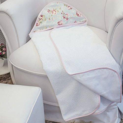 Toalha de Banho Ursa Realeza Floral com Capuz