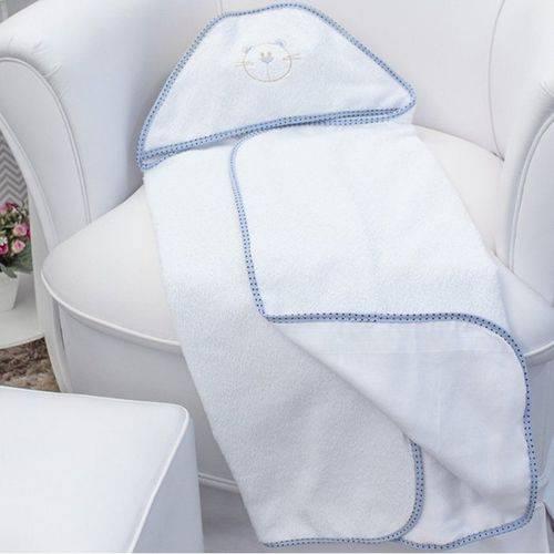 Toalha de Banho Urso Ted Azul com Capuz