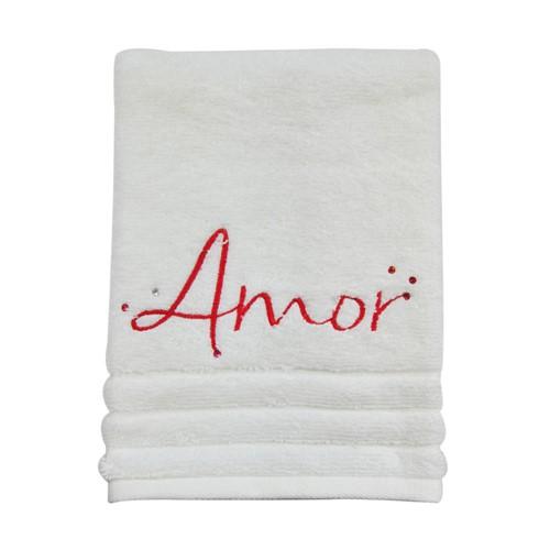 Toalha de Lavabo Bordada Amor 30x50
