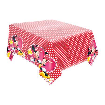 Toalha de Mesa de Papel Minnie Vermelha