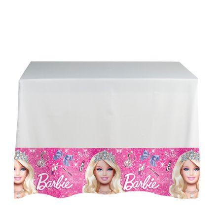 Toalha de Mesa Plástica Barbie Moda e Magia