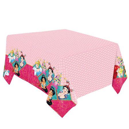 Toalha de Mesa Plástica Princesas Amigas
