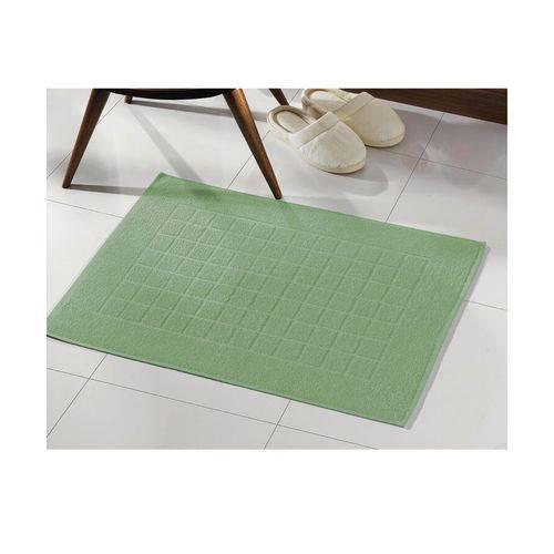 Toalha de Piso Felpudo 45cm X 70cm Royal Liso Verde Dohler