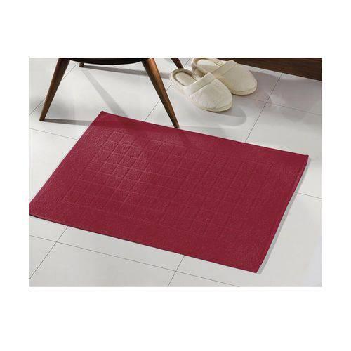 Toalha de Piso Felpudo 45cm X 70cm Royal Liso Vermelho Dohler