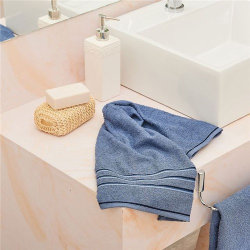 Toalha de Rosto Dakota Azul Azul