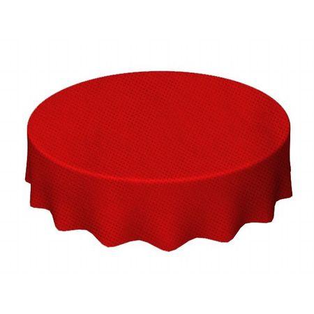 Toalha de TNT Redonda 1,30 Mts Vermelha - Unidade