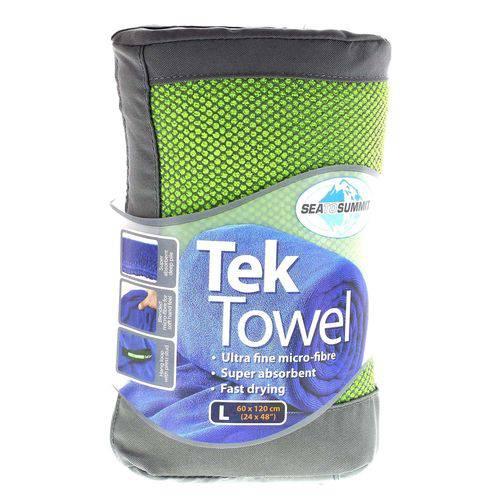Toalha Esportiva Ultra Absorvente Tek Towel Verde Sea To Summit