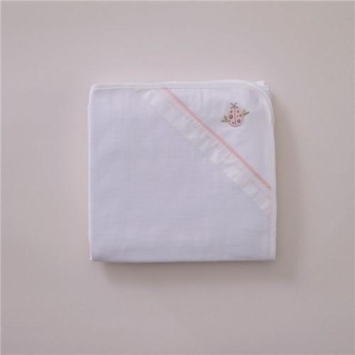 Toalha Fralda Coccinelle - Branco-rosa - 70x100