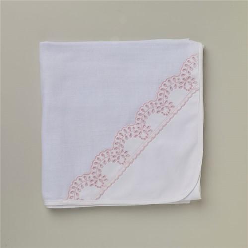 Toalha Fralda Favolarosa - Branco-rosa - 70x100