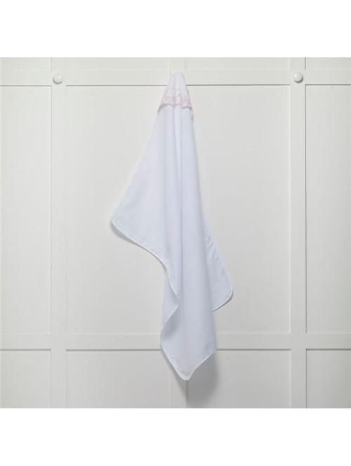Toalha Fralda Quartzo Branca e Rosa 70X100cm