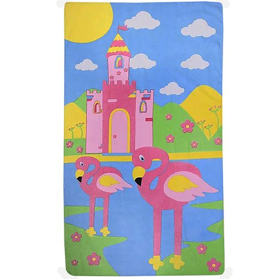 Toalha Infantil Feminina Flamingo