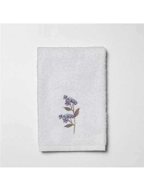 Toalha Lavabo Bouquet Azul - Branco-azul - 30x50