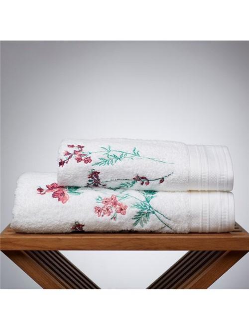 Toalha Oxfordshire - Branco-colorido - 86x160