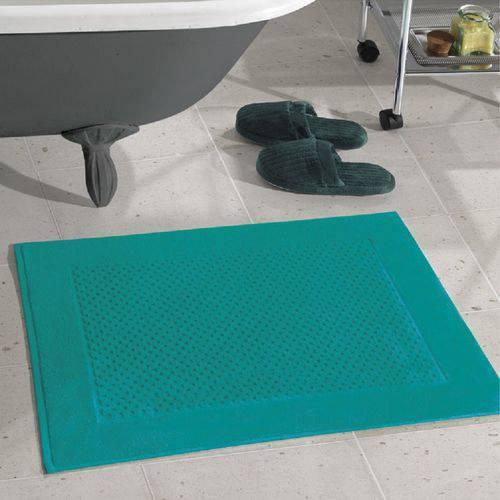 Toalha para Piso Felpudo Prime Liso Verde Água Af-1386