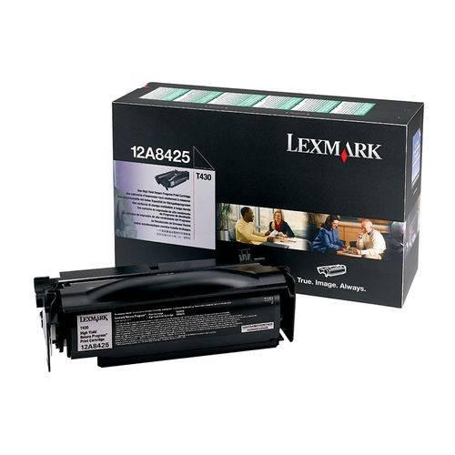 Toner Lexmark 12a8425 Preto